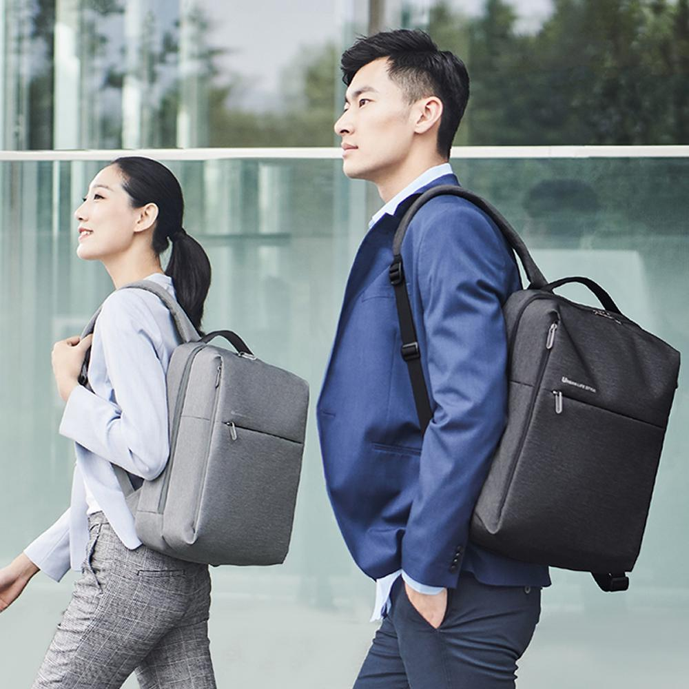 lowest price 100percent Original Xiaomi mijia Fashion backpack brief school bag Waterproof Outdoor Suit For 15 6 Inch of computer xiaomi plate