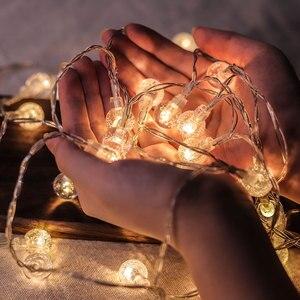 СВЕТОДИОДНАЯ Гирлянда в виде Шарика-пузыря, Сказочная светодиодная гирлянда с питанием от аккумулятора и USB для помещений на Рождество и св...