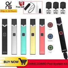 Original OVNS ZORRO Pod System Kit 0,7 ml Keramik Spule Li Ion Batterie Schutz Vape Stift Elektronische Zigarette Kit VS W01 JC01
