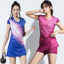 Женское Спортивное платье для девочек с защитными штанами, женские теннисные платья с шортами, платье для бадминтона, одежда для спортзала, бега, спортивная одежда