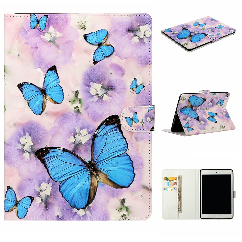 Case Purple Case For iPad 10 2 inch 2019 Stand Auto Sleep Smart Folio PU Leather Cover For