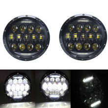 2PCS 75W 7Inch Round LED Headlight with High Low Beam LED Running Lights for Jeep Lada Niva 4x4 Land Rover Defender(China)