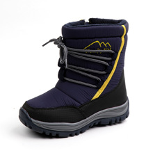 Winter Children Boots For Kids Shoes Girls Boots Boys Shoes Lace-up Warm Outdoor Kids Snow Boots Plush Fashion Footwear winter plush mid calf boots shoes boys warm children shoes little girls snow boots kids fashion shoes hot sale aa11143
