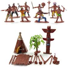 Scenery-Toy Tribes-Figures-Model Decoration-Accessory Home-Desk-Decor DIY Indian 13pcs/Set