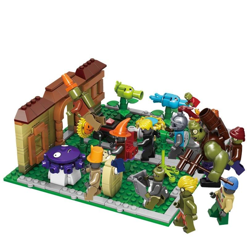Plants Vs Zombies Garden Maze Struck Legoinglys Game Building Blocks Bricks Toys For Kids Figures Model