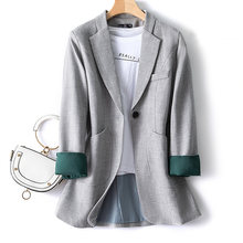 Женский офисный пиджак тонкий повседневный костюм на весну и