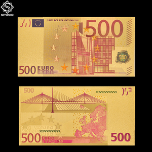 Collectible Currency 500 Euro Color Banknote Bill Replica Paper Money Note