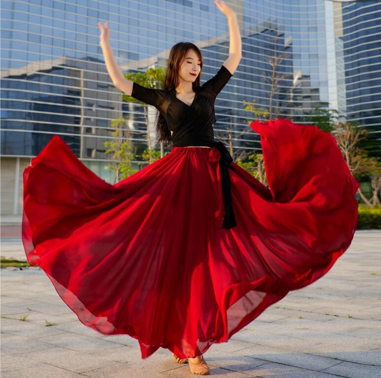 Outfit Maxi-Skirt Dance-Costume Performance Circle Fairy Oriental Belly-Dance 1000-Degree