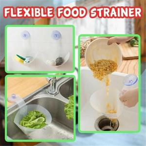 Image 2 - Self Standing Stopper Kitchen Anti Blocking Device Foldable Filter Simple Sink Recyclable Collapsible Drain filter