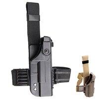 Tactical Glock Gun Accessories Military Glock 17 22 Pistol Holster Double Protective Gun Holster Quick Drop Leg Holster Gun Case