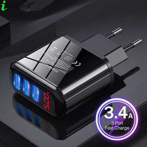 Usb-Charger Led-Display Mobile-Phone Plus Samsung S10 Huawei Xiaomi for 48W