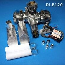 جديد محرك بنزين DLE 120 العادم الخلفي 120CC لطائرة RC