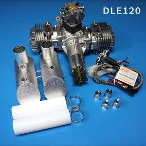 Image 1 - Neue DLE Benzin Motor DLE120 Hinten Auspuff 120CC Für RC Flugzeug