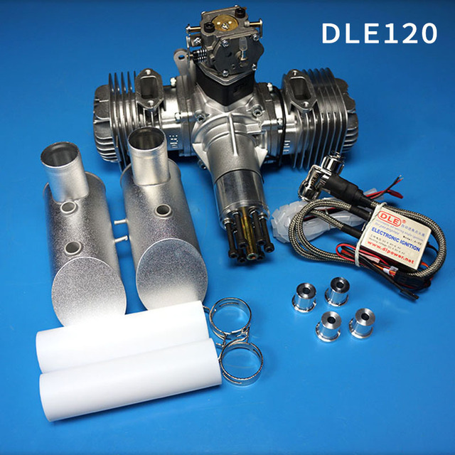 Neue DLE Benzin Motor DLE120 Hinten Auspuff 120CC Für RC Flugzeug
