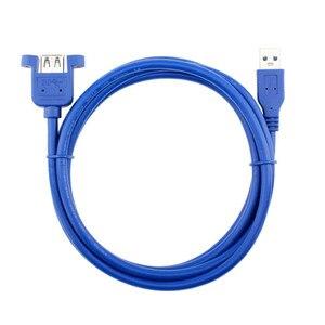 Image 5 - USB kablosu 3.0 uzatma erkek kadın genişletici kablo kordonu çift korumalı vida paneli dağı 0.3M 0.6M 1M 1.5M 3M