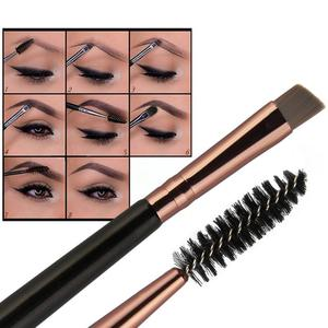1 PCS Double-End Angled Eyebrow Brush Single Eyelash Mascara Brush Black Gold Pink Silver Makeup Brush Tool For Eye Brow Makeup