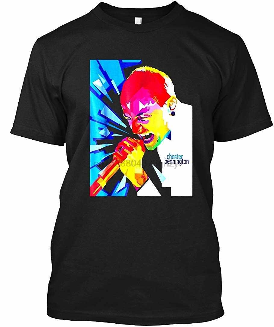 Linkin Chester Tee-Parco Bennington-T Shirt-Logo T-Shirt Felpa Maglietta di Estate di Marca di Fitness Body Building