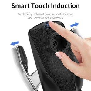 Image 5 - Aperto automático qi sem fio carregador de carro montar sensor infravermelho carregamento rápido titular para iphone 8 x xr xs 11 samsung s10 s9 s8