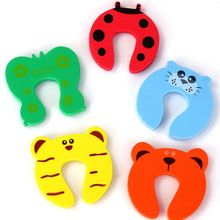 Door-Stopper Finger-Protector Baby-Safety Child Animal 5pcs/Lot Card-Lock Newborn-Care