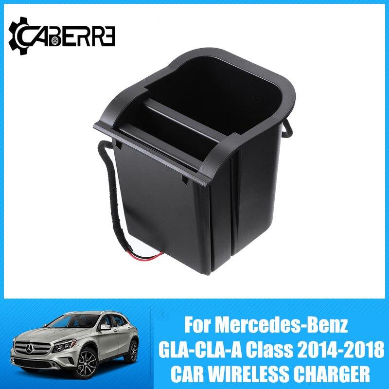 10W Qi Auto Drahtlose Ladegerät Für Mercedes-Benz GLA-CLA-A Klasse 2014-2018 Drahtlose Lade Drahtlose Ladegerät Konsole für Iphone