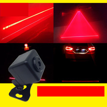 Car LED Laser Fog Light Laser Strobe Lights Anti-Collision Taillight Tail Warning Lamp Braking Parking Signal for Forlight red led lamp laser anti fog light 12v car warning lights for nissan 350z 370z ad almera classic altima armada avenir juke nismo