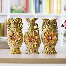 Ceramiczny wazon dekoracji podłogi kwiat biurko wazon wyposażenia domu małe europejska szafka telewizor z dostępem do kanałów blat rzemiosło poszycia złota