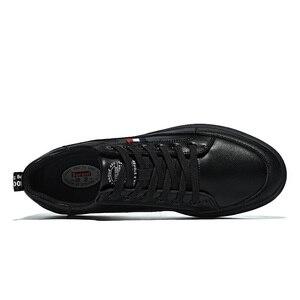 Image 4 - SUROM יוקרה מותג מקרית גברים נעלי עור תחרה עד אופנה קלאסי שחור לבן סניקרס גברים רשת לנשימה Zapatos דה Hombre