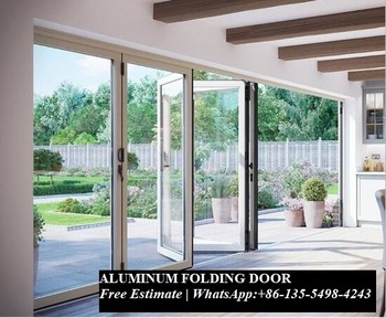 Innen Raumteiler Schall Isolierte Glas Aluminium Bi-Falten Türen, Bi Fold Türen Für Wohnzimmer