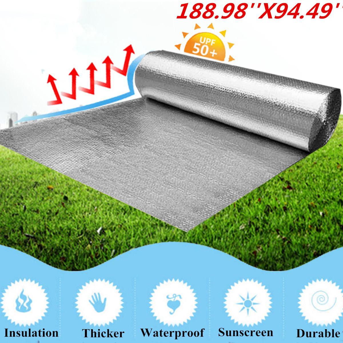 Mousse d'isolation de 4.8M x 2M en aluminium silencieux en Fiber de coton
