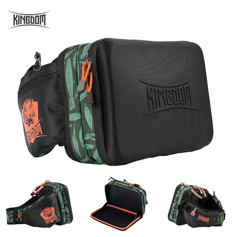 Kingdom 8L Waterproof Fishing Bags Two Main Compartments Sling Bag Multifunctional Lure Box Tackle Backpack Outdoor Shoulder Bag