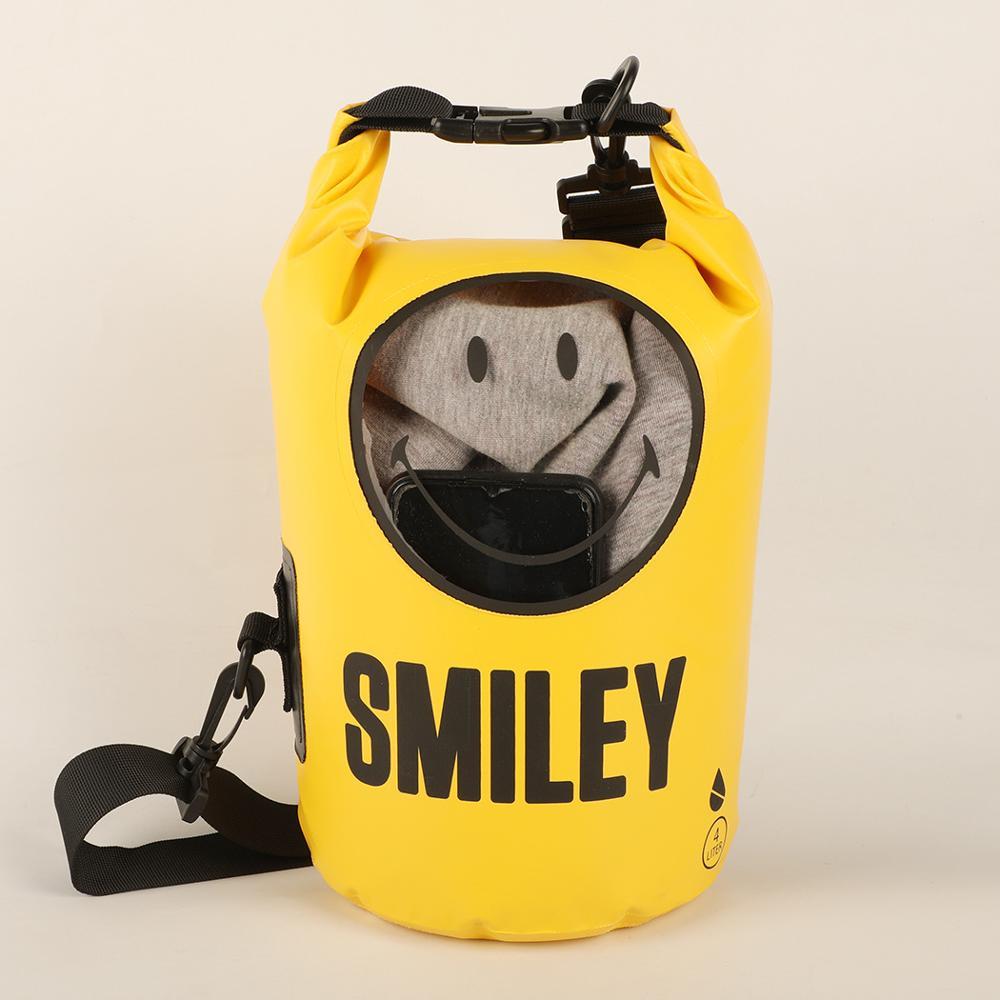 4L Waterproof Dry Bag With Detachable Shoulder Strap For Swimming Kayak Rafting Boating Waterproof Bag With Transparent Viewport