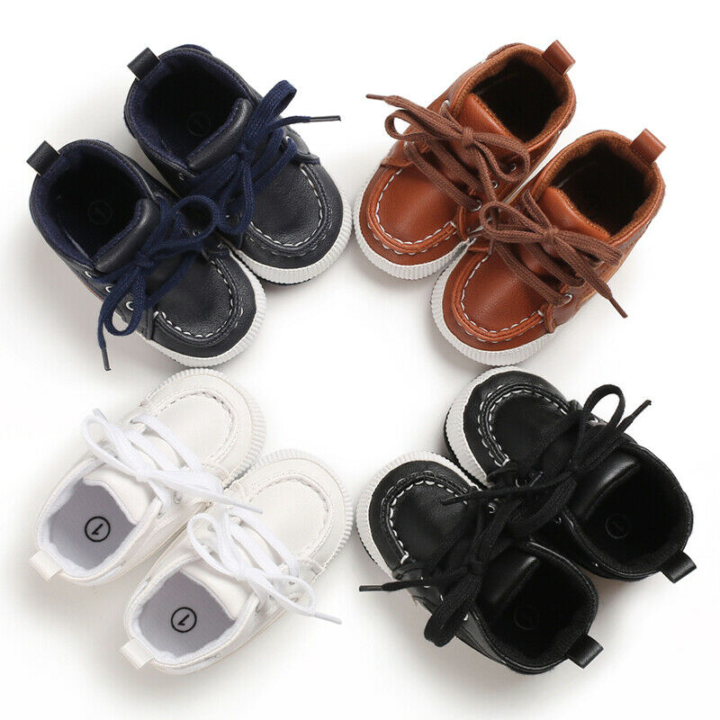 Hot Sale New Toddler Newborn Leather Soft Crib Sole Kids Girls Boy Prewalker Shoes Sneakers Anti-slip Casual Shoes 0-18 Months