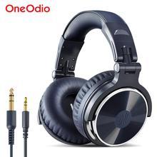 Oneodio auriculares con cable para DJ, auriculares estéreo de graves para videojuegos con micrófono para teléfono, ordenador, estudio, auriculares para grabar