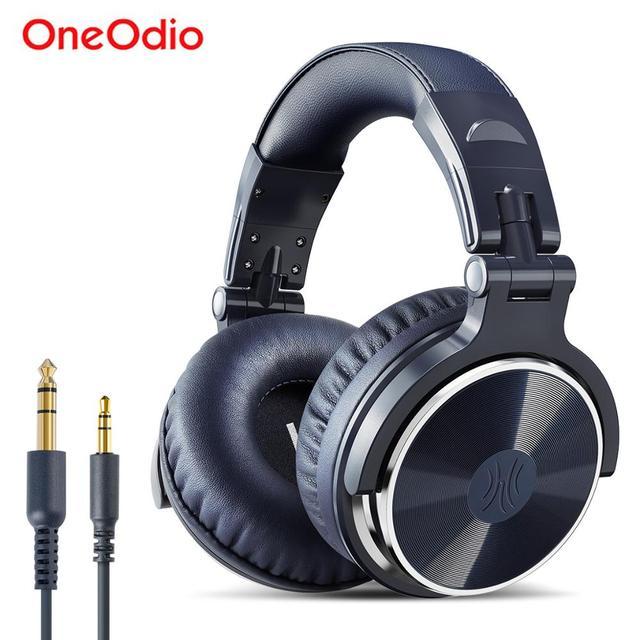 Oneodio przewodowe słuchawki dla DJ bas Stereo gamingowy zestaw słuchawkowy z mikrofonem do telefonu, komputera Studio Monitor słuchawki do nagrywania
