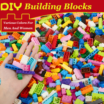250-1500 Pieces Building Blocks City DIY Creative Bricks Bulk Model Figures Educational Kids Toys Compatible All Brands Toy 922pcs mine mountain building blocks my world figures bricks educational toys for kids compatible with legoed minecrafted city