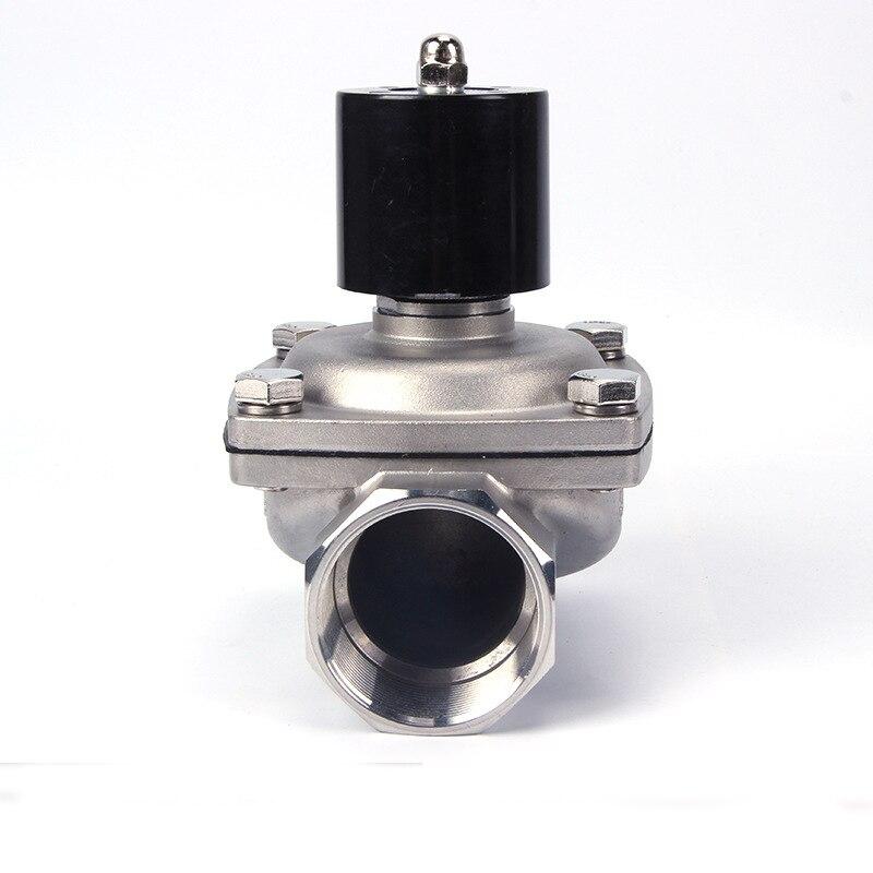 Électrovanne d'acier inoxydable normalement fermée de basse pression 24v DN32 1-1/4 pouces pour la fontaine musicale
