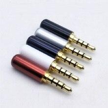 2/5/10 個ゴールドメッキ 3.5 ミリメートルイヤホン修理プラグ 4 極プラグ携帯電話マイクプラグ 3.5 ミリメートルジャック