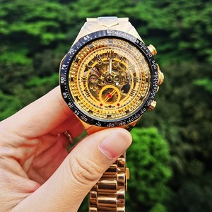 Image 5 - WINNER Official Vintage Fashion Men Mechanical Watches Metal Strap Top Brand Luxury Best Selling Vintage Retro Wristwatches +BOX