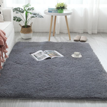 Carpets for Modern Living Room Thick Silk Wool Carpet in Children's Room Home Decoration Modern Fluffy and Soft Large Rugs Grey