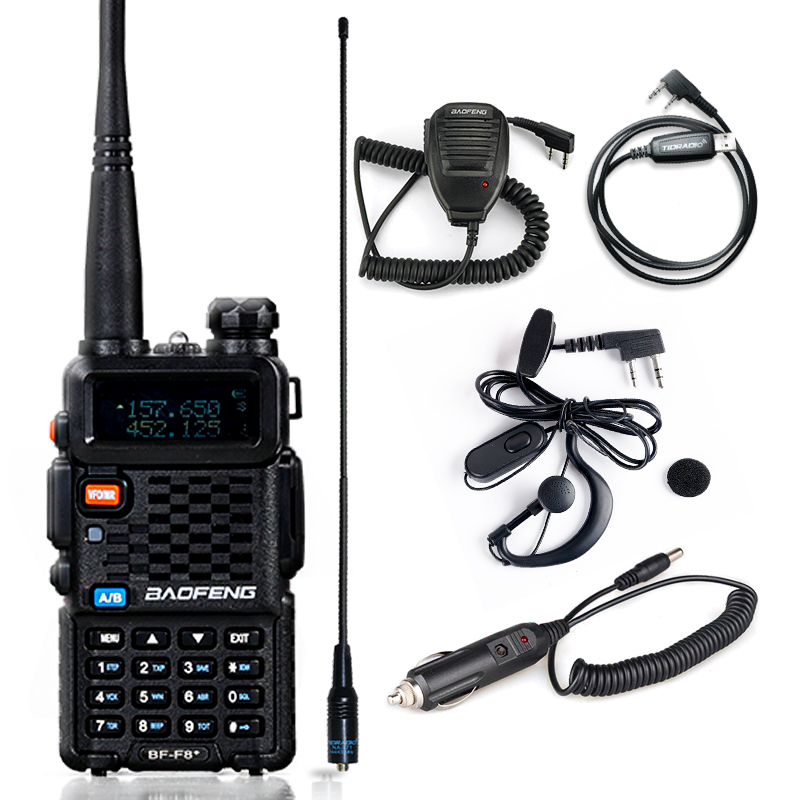 Baofeng BF-F8+ Walkie Talkie Dual Band VHF UHF Radio 136-174/400-520MHz Two Way Radio HF Transceiver