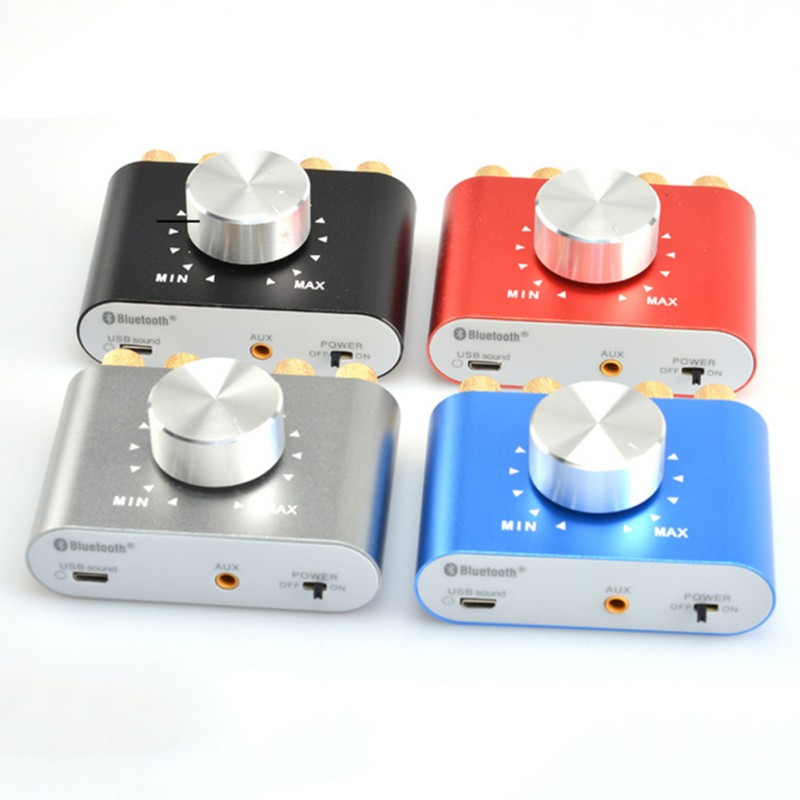 K High-quality Professional 12V-24V 100W Bluetooth Stereo Audio Amp Digital Mini Car Power Amplifier!