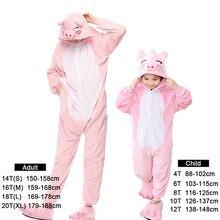 Kigurumi novo inverno mulher completa pijamas de flanela adulto porco leopardo tigre unicórnio animal pijamas adolescente hoodie pijamas pijamas pijamas