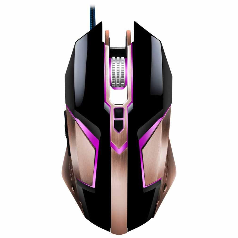 T03 Ergonomische Wired Gaming Mouse Muizen Met 4800 Dpi Verstelbare Hoge Precisie 8 Button Led Optical Voor Laptop Pc Computer gamer