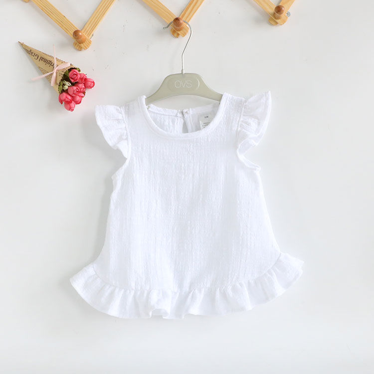 VIDMID 2-6Years Toddler Kids Baby Girls Sleeveless T Shirts Vest Solid Pure Color Casual Baby Summer Tops Clothes P197 4