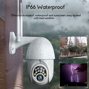 360-degree Wireless WiFi Connection Outdoor Waterproof 1080p Dome Camera Smart Practical Network CCTV Surveillance Camera EU