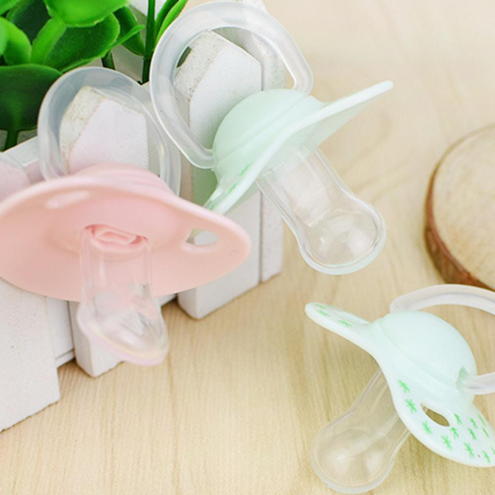 Baby Soft Silicone Orthodontic Dummy Pacifier Teat Nipple Soother With Cover New