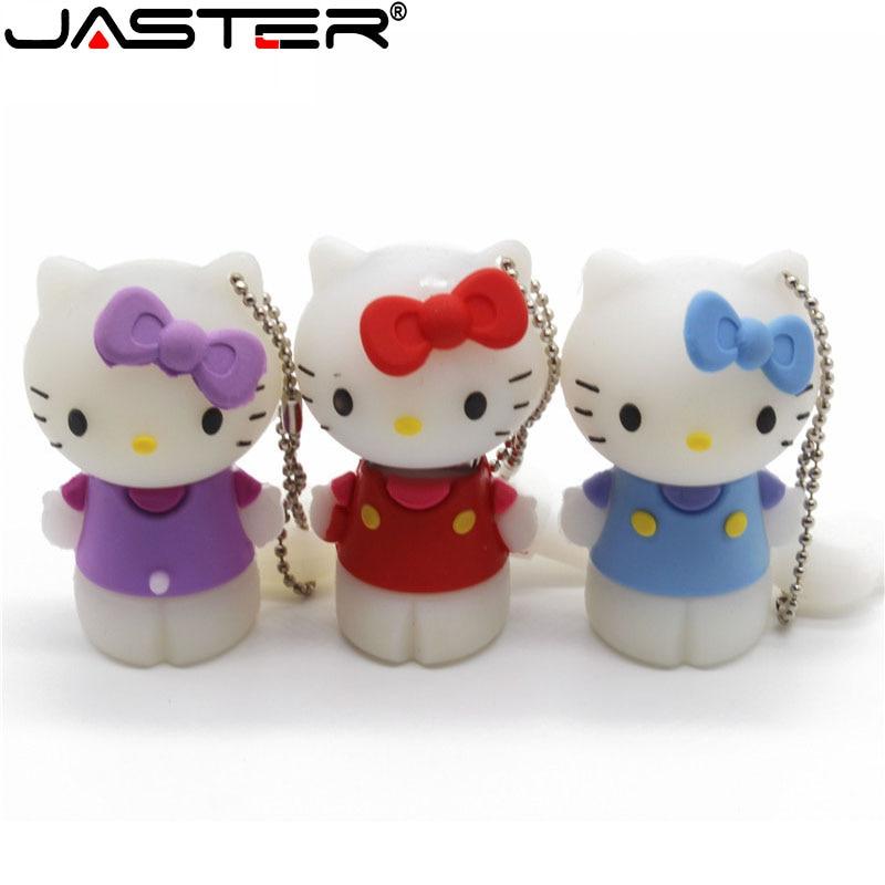 JASTER Flash-Drive Usb-Stick  Hello Kitty Personality Cartoon  4GB 16GB 32GB  64G  USB2.0