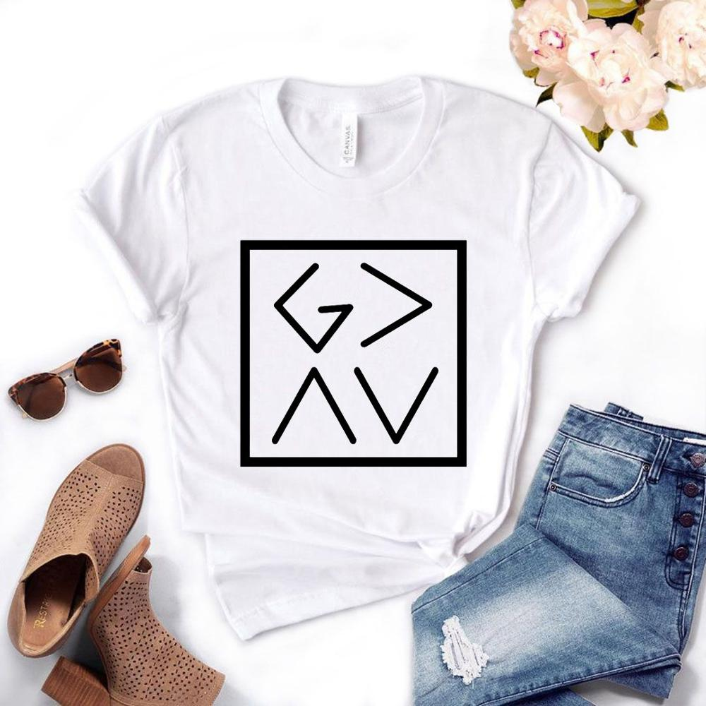 T <font><b>Shirt</b></font> Gift Lady Yong Girl Top Tee <font><b>God</b></font> Is Greater Than The High and Lows Square Women Tshirt 6 Color Cute image