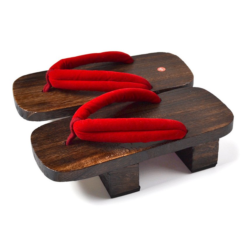 Unisex Woman Paulownia Wooden Japanese Traditional Geta Clogs Man Naruto Ninja Cosplay Shoes Flip Flops Outdoor Sandals