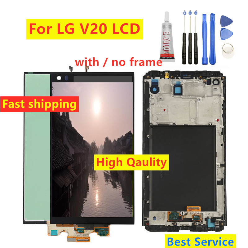 High Qaulity For LG V20 LCD Display VS995 VS996 LS997 H910 Touch Screen Digitizer With Frame Full Assembly Replacement Parts